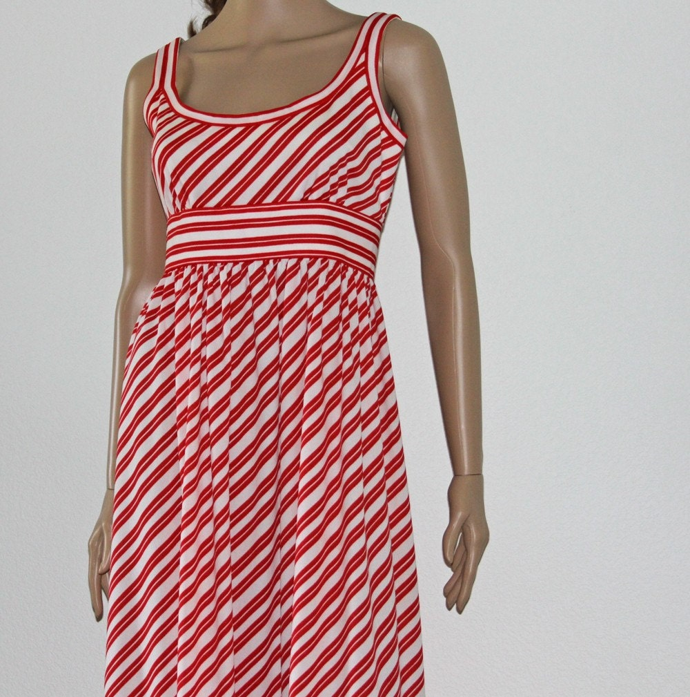 Peppermint Twist 1970s Maxi Dress by Shannon Rodgers