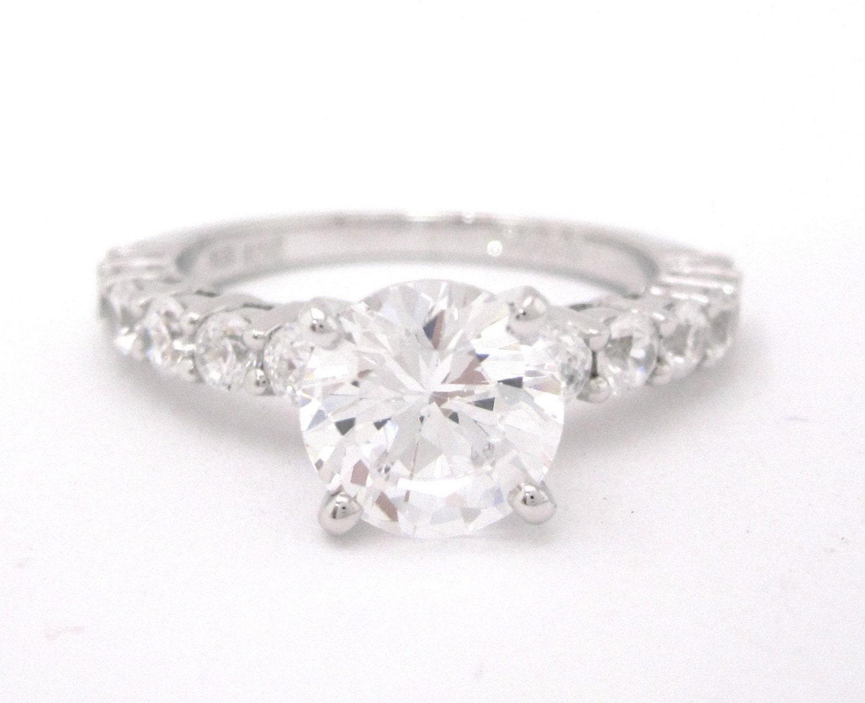 ROUND CUT BIG DIAMOND ENGAGEMENT RING BEAUTIFUL by jewelsbyknr