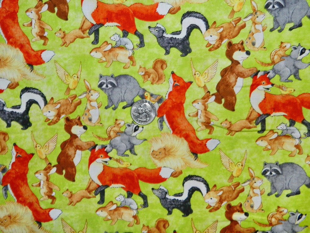 Hide And Seek Woodland Animals Fabric By The Yard By