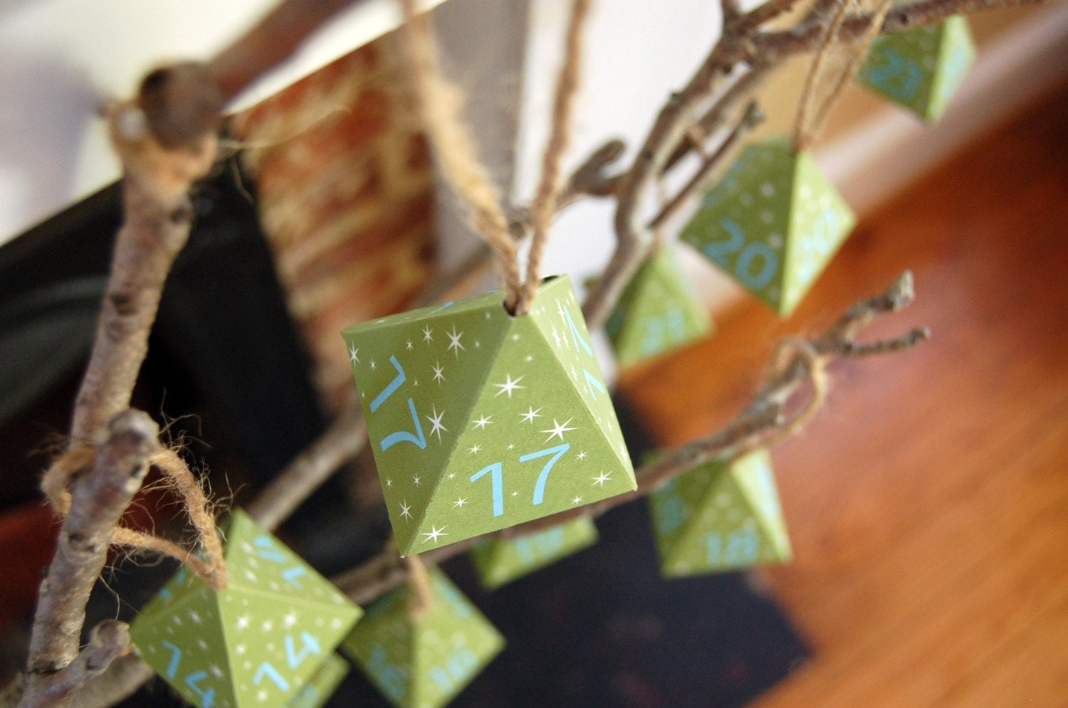 Starry Trees Advent Calendar - Printable Download