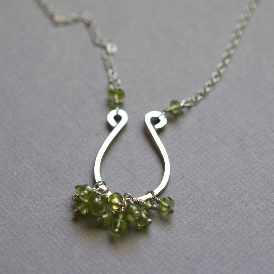 Omega Necklace - Peridot