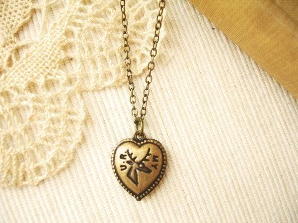 sincerely - u r my dear, a heart necklace. (on hold
