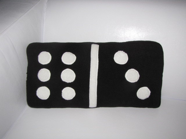 Domino Pillow Personalized Custom Geek Chic by freakyfleece