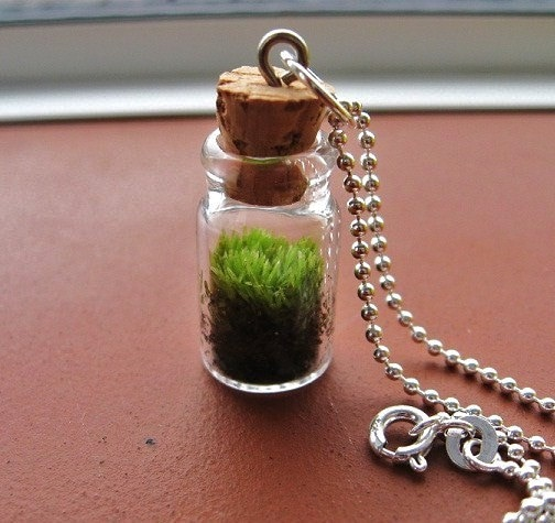 Free Shipping Today Only,  Good Luck Moss Pendant Necklace