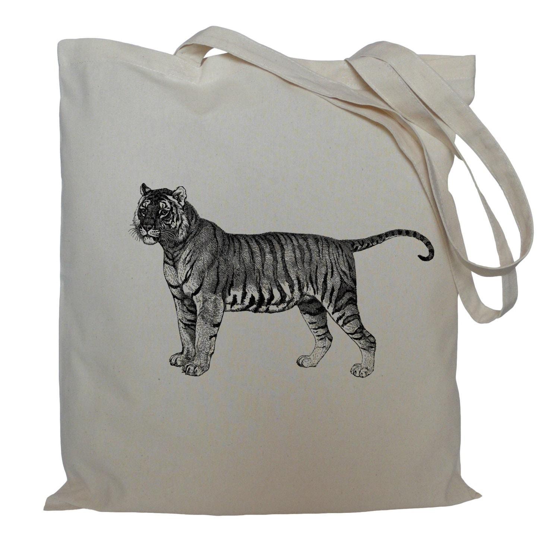 Tote bag drawstring bag tiger cotton bag  material shopping bag tiger shoe bag animal market bag