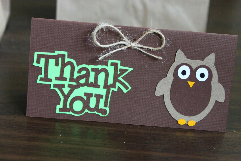 Woodland/Owl favor bag toppers - Set of 12