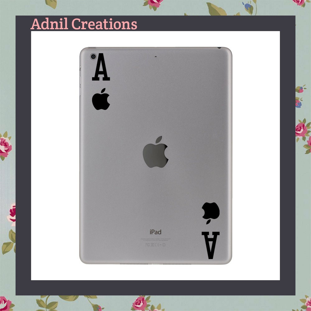 Mac Decal  Ace of Apple  Playing Card  Apple Macbook and other laptop