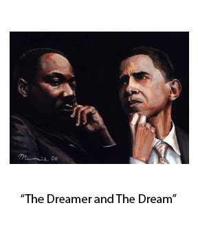 The Dreamer and The Dream by Minnie Watkins features Rev. Dr. Martin Luther King Jr. and President Barack Obama