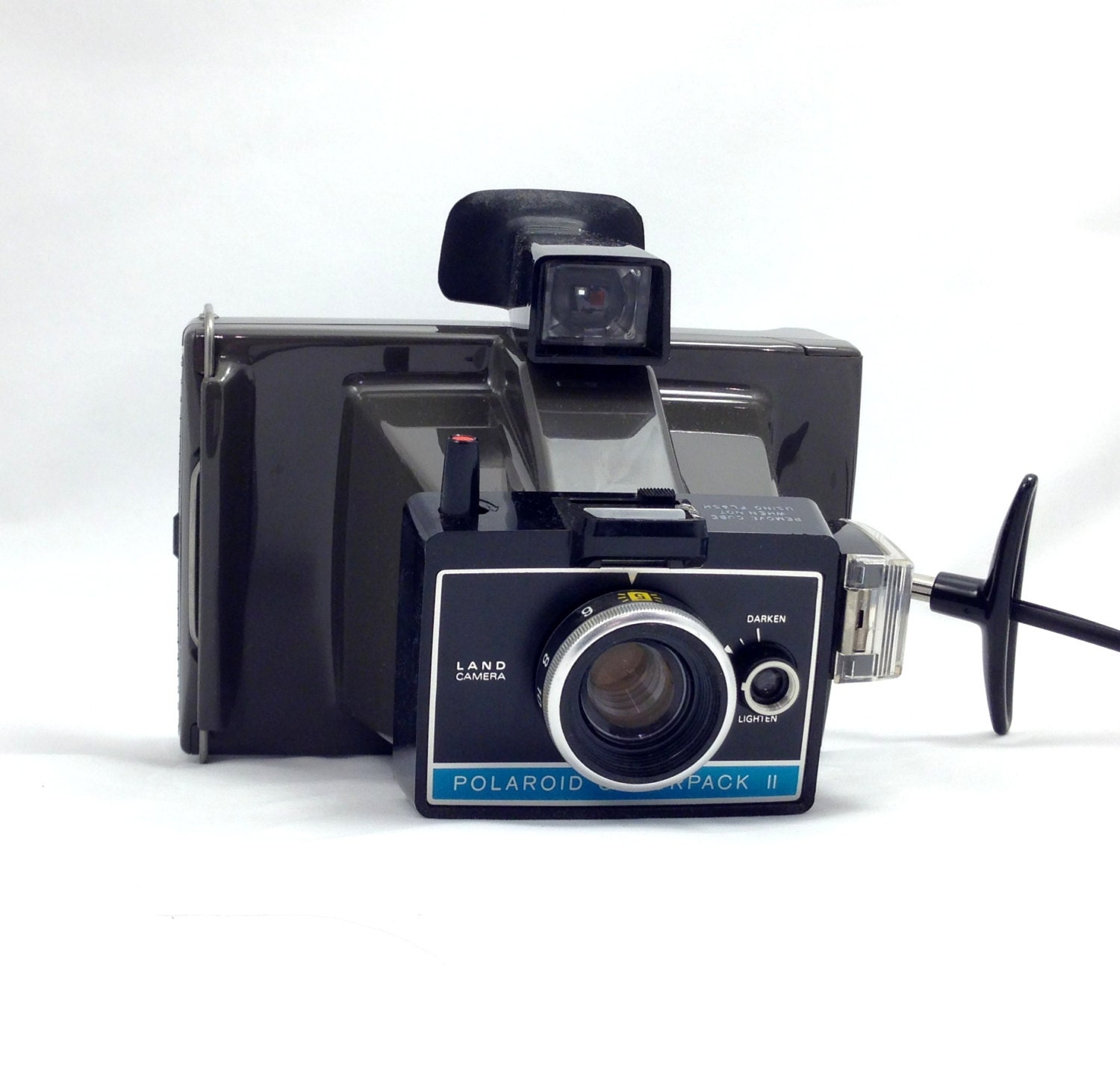 vintage camera with case polaroid colorpack ii by jaystreasureshed. Black Bedroom Furniture Sets. Home Design Ideas