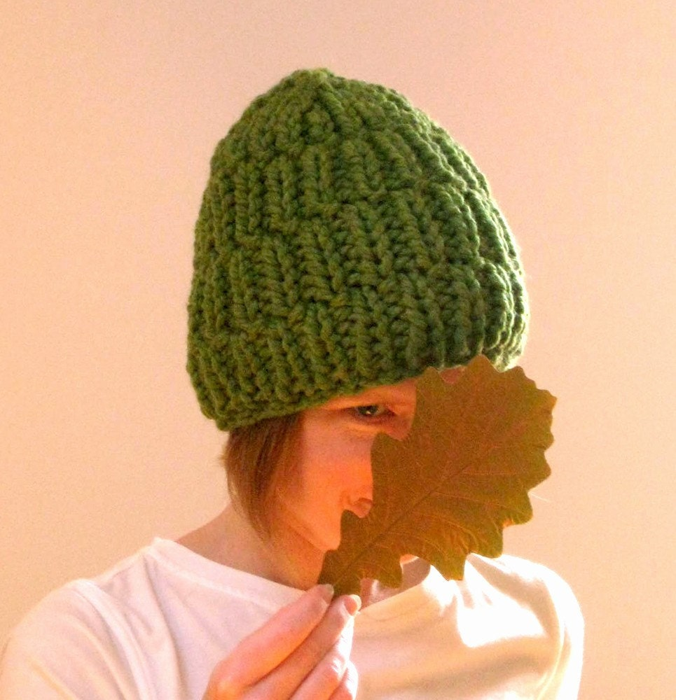 Chunky Green Warm and Woolie Hat - Hat.018