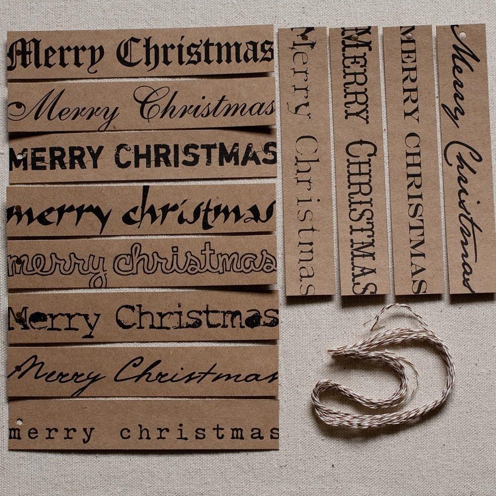 Merry Christmas Kraft Tags