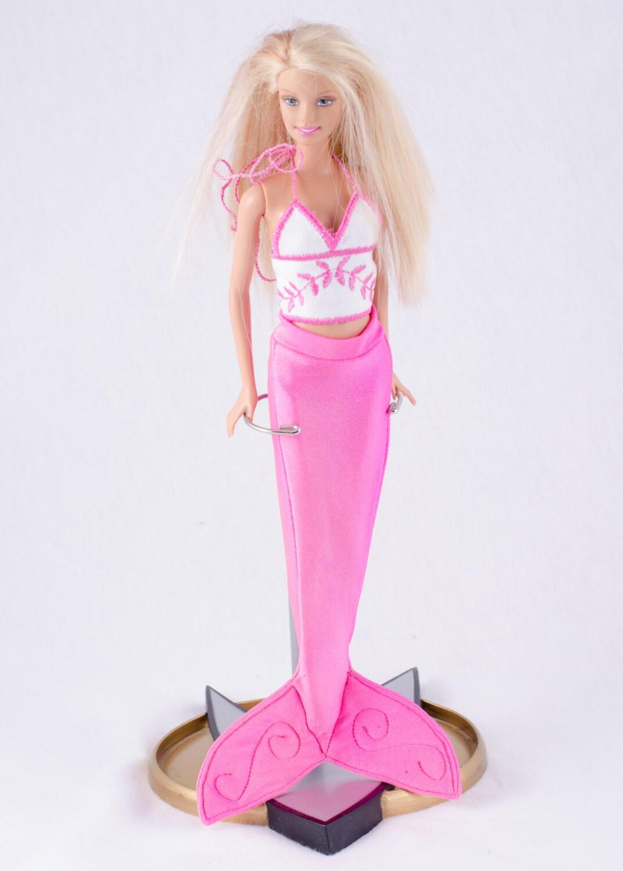 Поделки для девочек: Как сделать хвост русалки для куклы 81