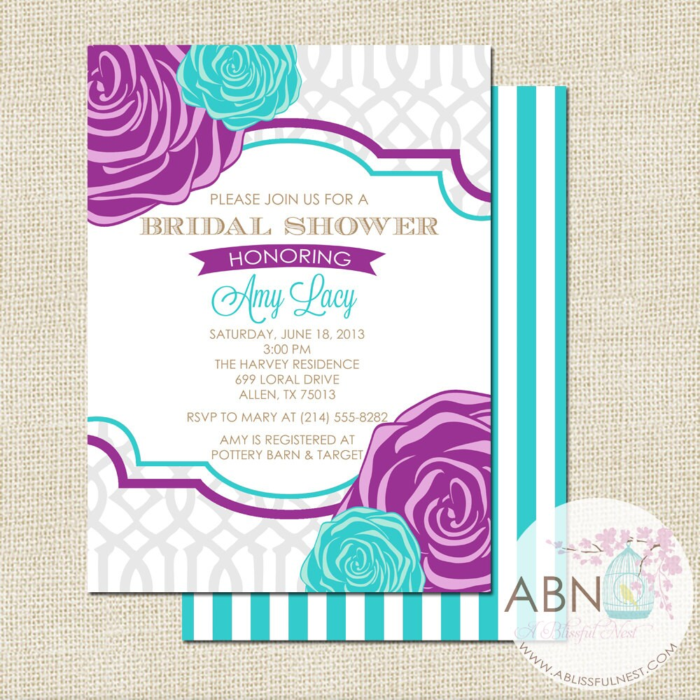 wedding shower invitation engagement party invite bachelorette party ...
