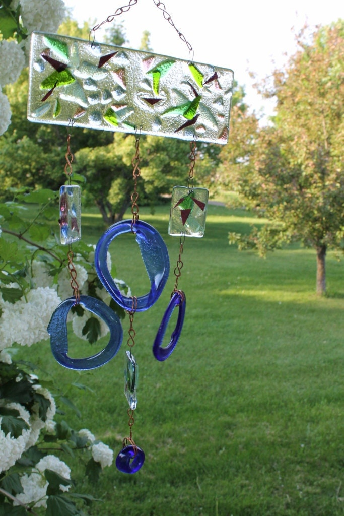Unavailable listing on etsy - Recycled glass garden art ...