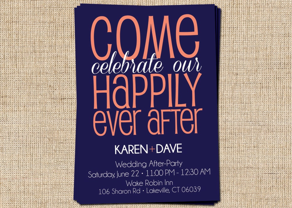 After Party/Couple's Shower Invitation Come Celebrate by ...