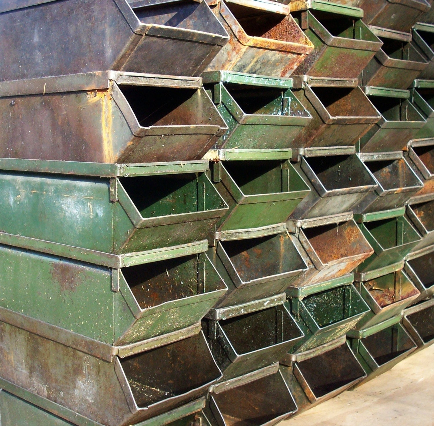 Industrial Stacking Containers : Items similar to reserved for a vintage v e r y