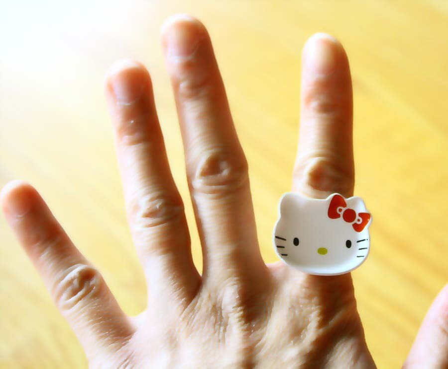 Hello Kitty plate ring