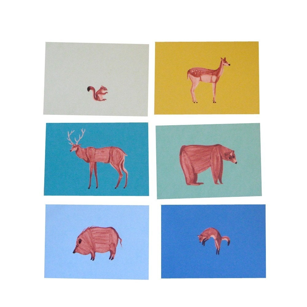Wild life / Set of 6 postcards