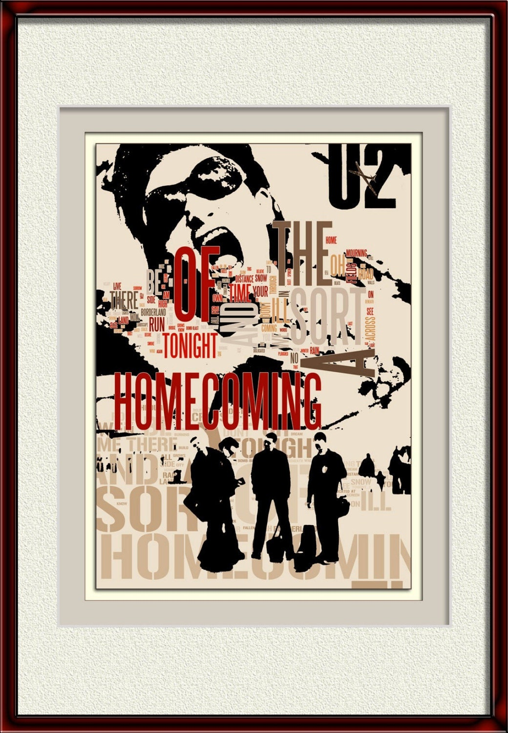 A Sort of Homecoming - u2 the song - collage limited edition