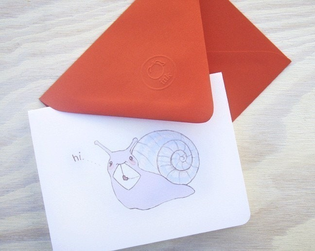 snail mail note card