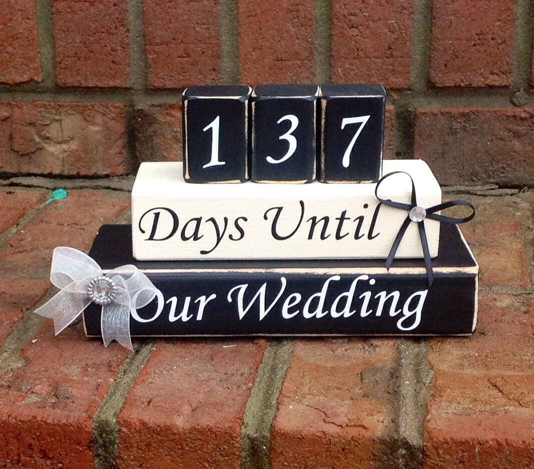 1 Year Countdown Wedding Gift : . Countdown to Wedding. Countdown to Our Wedding. Wedding Gift ...