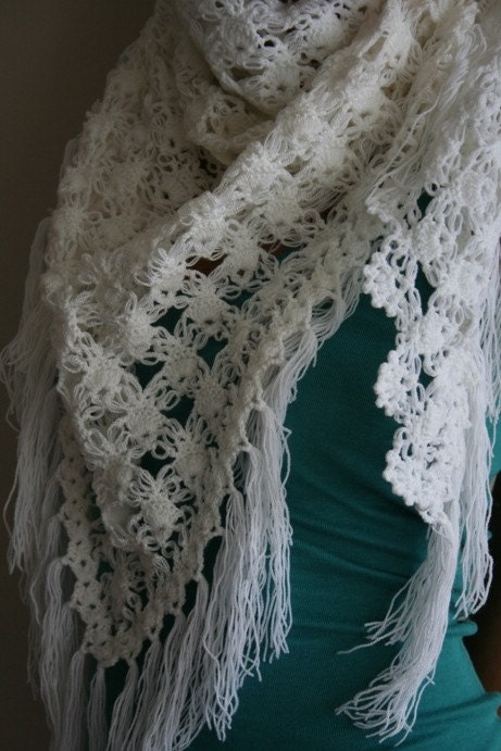 Snow White Shawl with SPECIAL PRICE