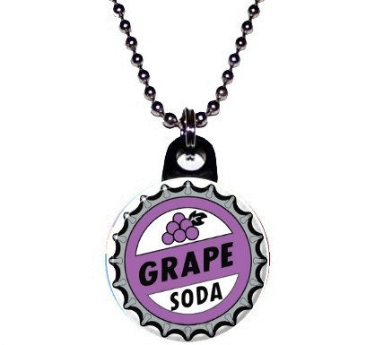 Disney Pixar Up Grape Soda Bottle Cap Image Necklace