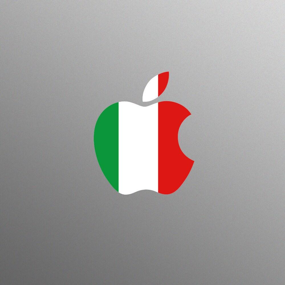 Italian Tricolour Flag Decal Laptop Sticker for Apple MacBook  Pro  Air