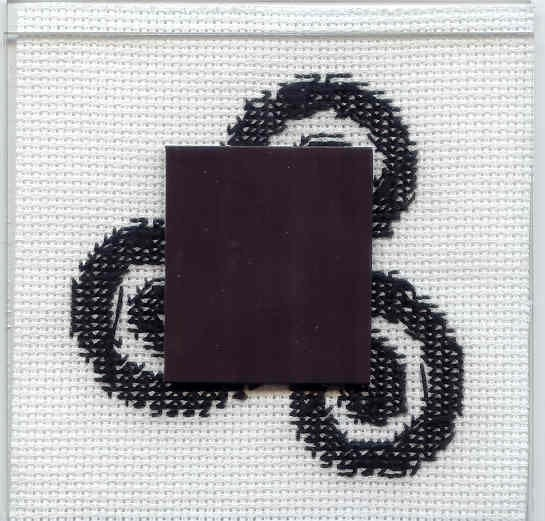 Celtic Triskel Tattoo Cross Stitched