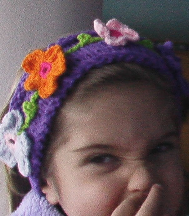 PURPLE FLORAL HEADBAND -FREE SHIPPING