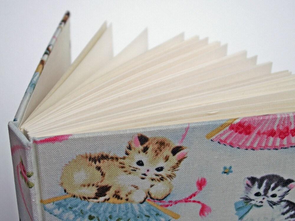 Sweet kitties handmade blank notebook