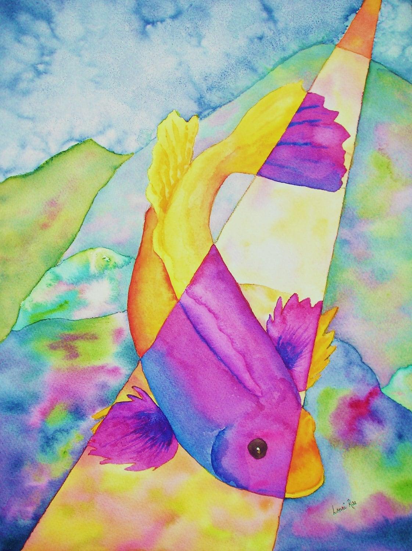 Watercolor painting fish for Watercolor fish painting