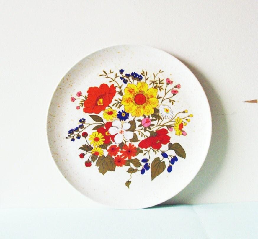 Mod Floral Melmac Plate