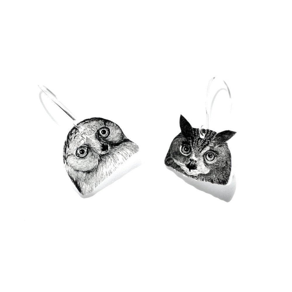 Jules and Jim Owl Earrings