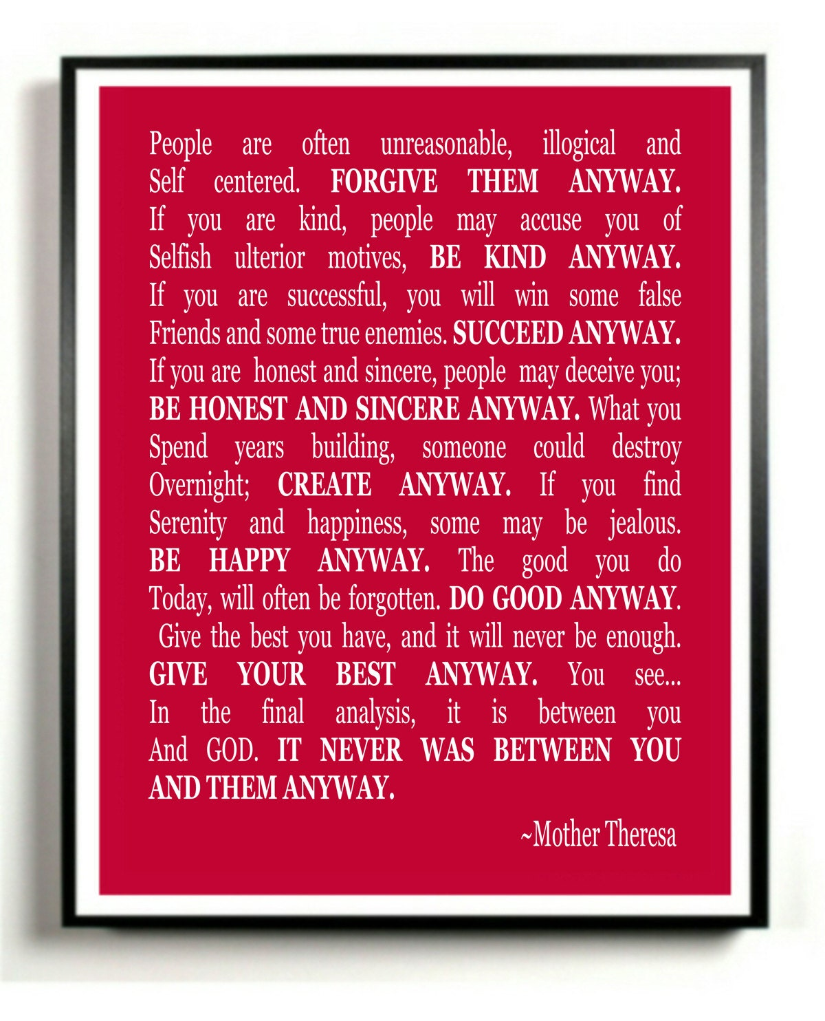 "... Mother Teresa // [ i realize i need to move that ""&"" over a bit. it's"