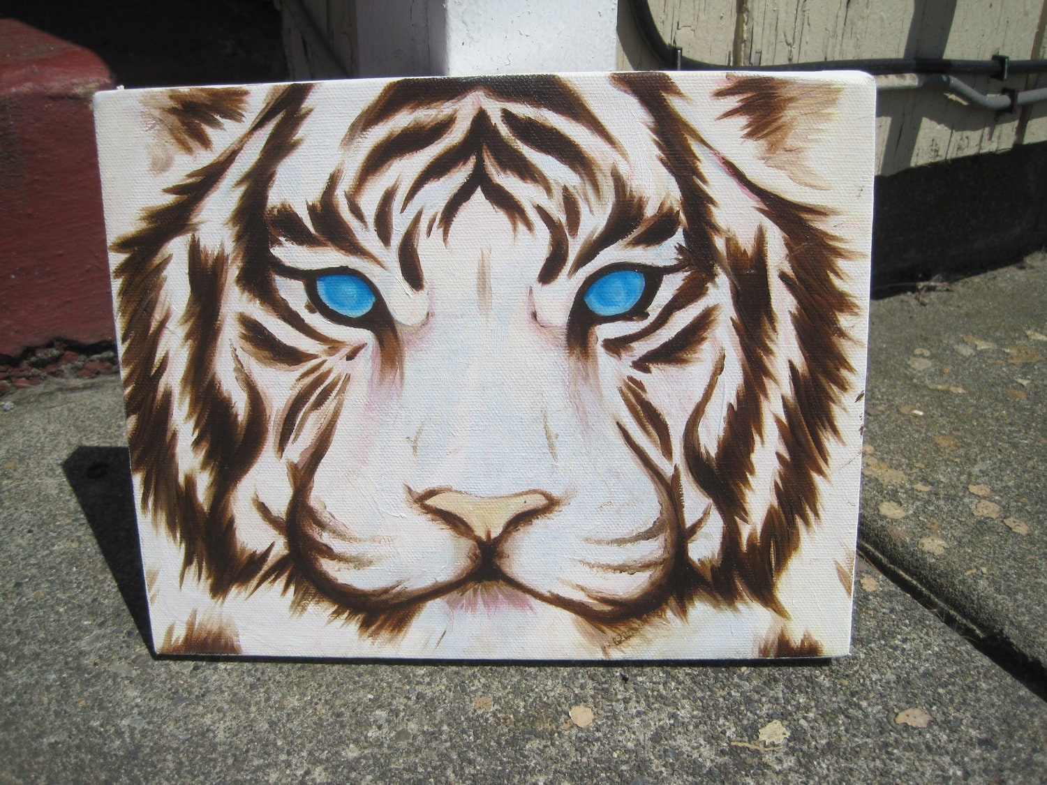 White Tiger Oil painting on canvas by nrrrdcakkke on Etsy
