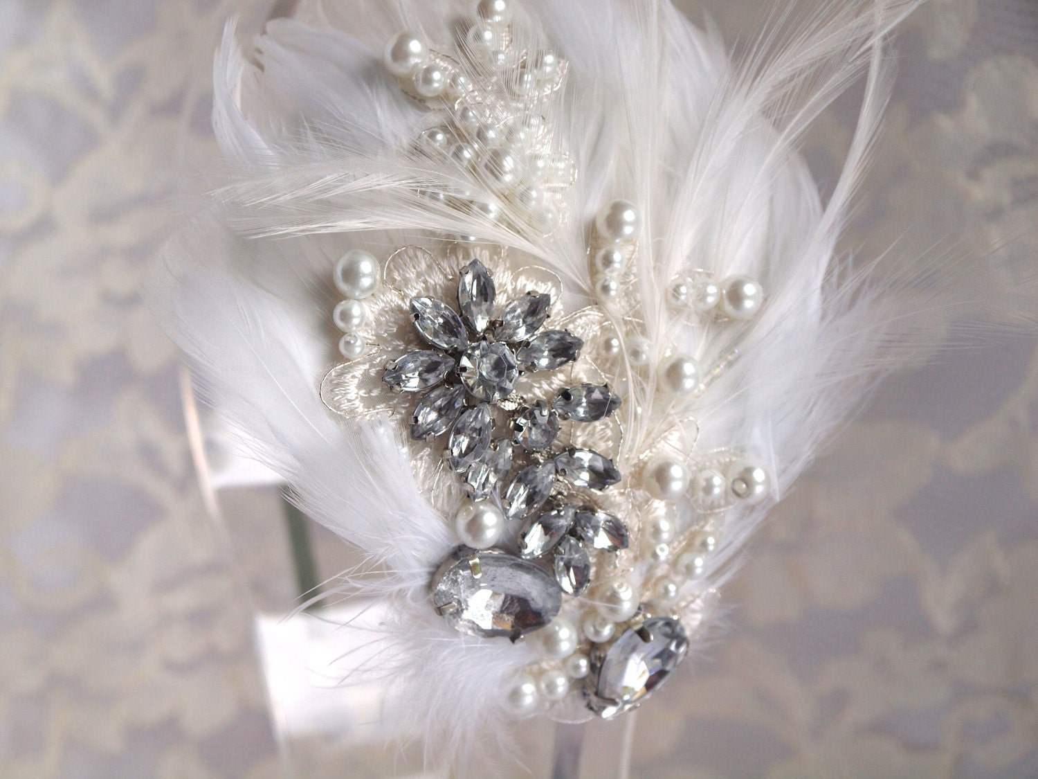 wedding, bridal comb, Lady Grace silver