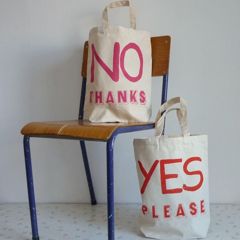 in/decision shopper tote bag - orange/pink