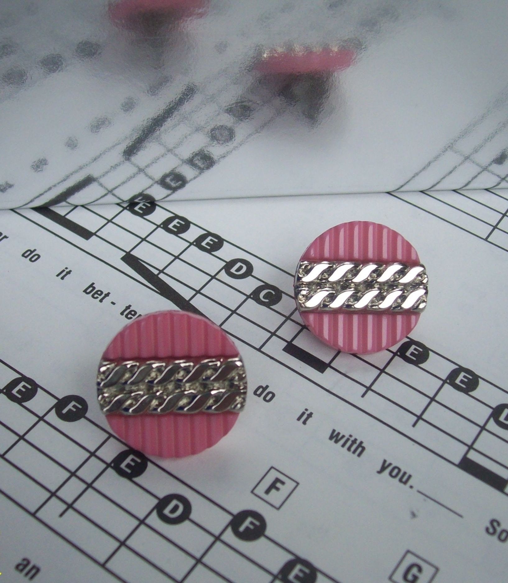 Pink and Pretty- Chain Post Earrings