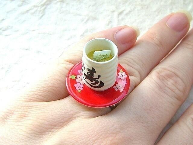 Kawaii Cute Japanese Ring-Green Tea