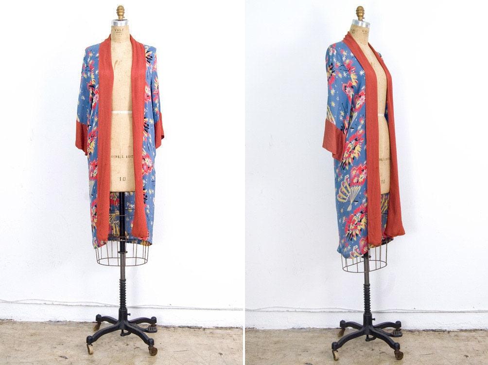 Vintage 1930s silk kimono robe