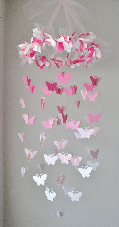 Люстра из бумаги с бабочками своими руками 92