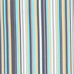 Play Stripe Flannel in Sea For Michael Miller, 1 Yard