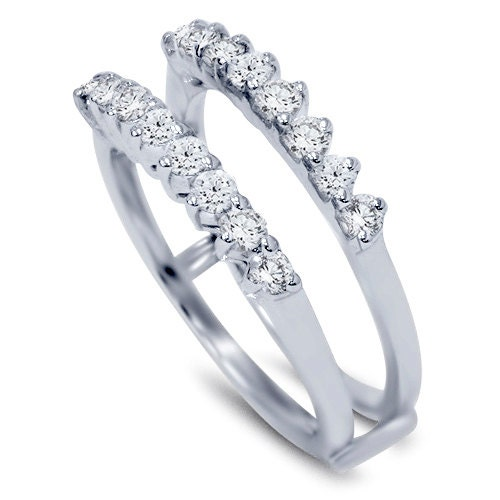 60ct guard ring wedding band insert by pompeii3