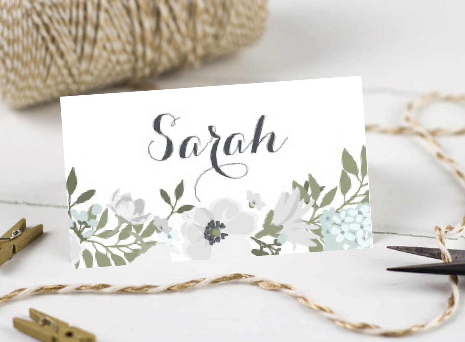 Personalised Printable Wedding Place CardsName Cards Suzi Collection  WC43