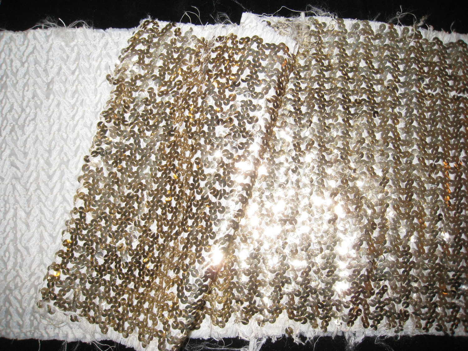 Vintage metallic silver gold sequin fabric by shopolga for Sequin fabric
