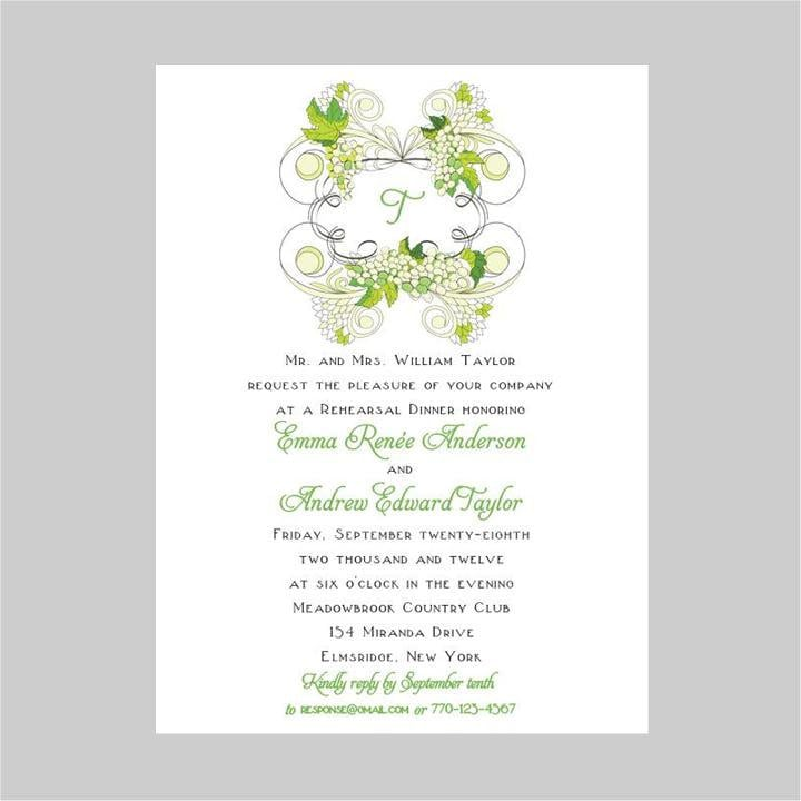 Rehearsal Dinner Invitations Etsy is the best ideas you have to choose for invitation example