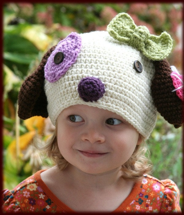 Etsy :: tiptopapplesauce :: Amigurumi Animal kawaii PUPPY crochet Silly hat PATTERN EBOOK