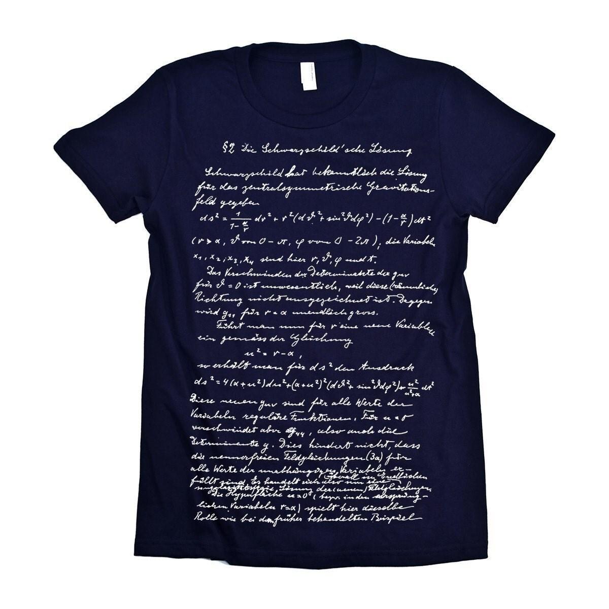 Einstein Tshirt Relativity handwriting Theory Tee WOMENS Shirt