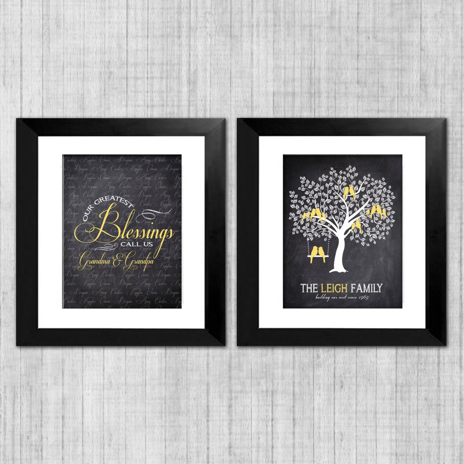 grandparents wall art personalized family tree by. Black Bedroom Furniture Sets. Home Design Ideas